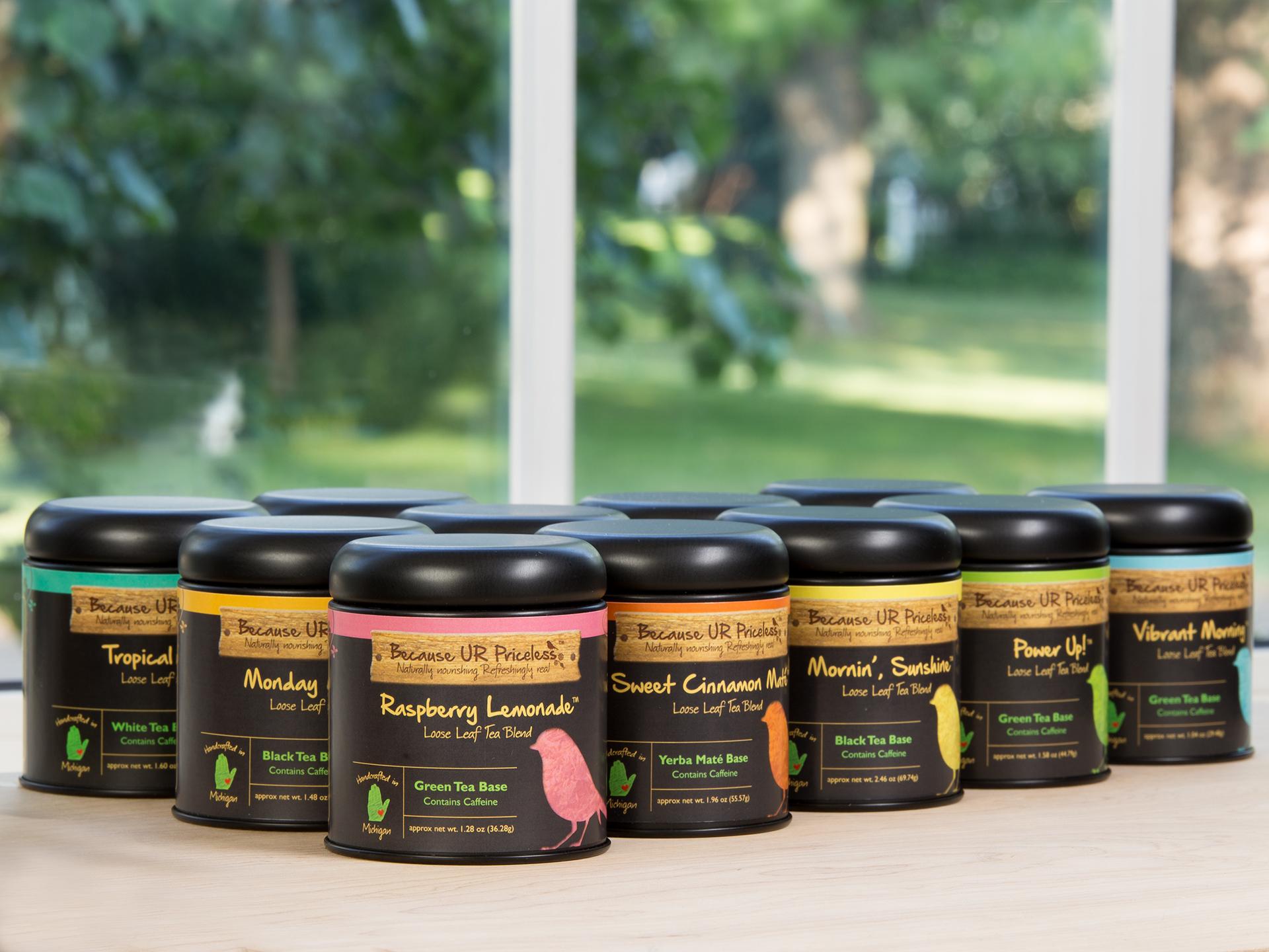 Because UR Priceless Organic Caffeinated Tea Short Tins Product Photo