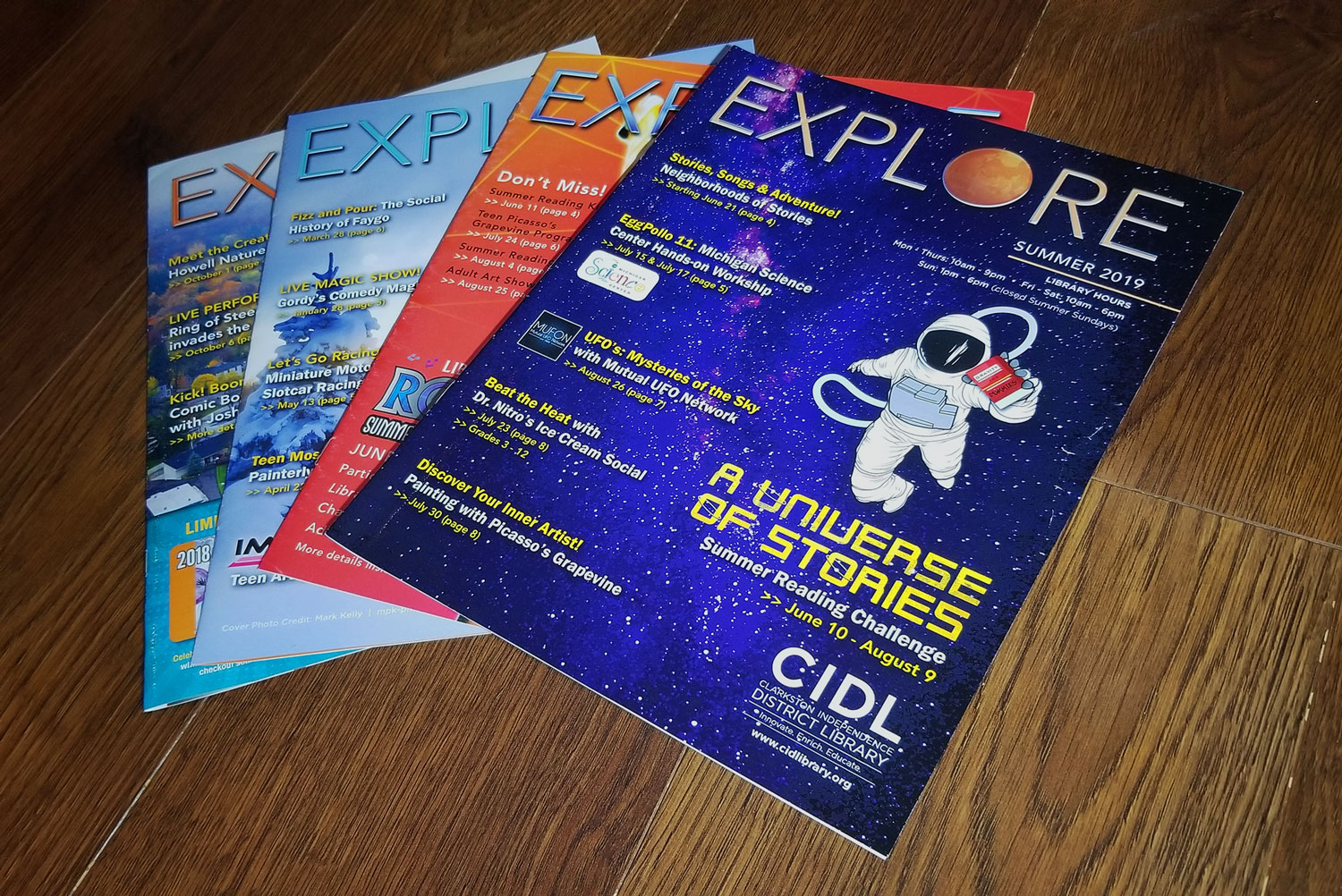 CIDL EXPLORE Newsletter Covers and Editions